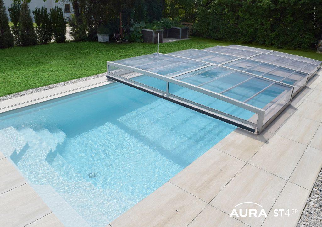 Poolüberdachung der Firma Aura