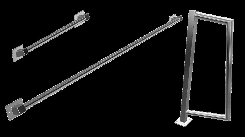 Haltestangen und Griffbögen der Serie Tondo