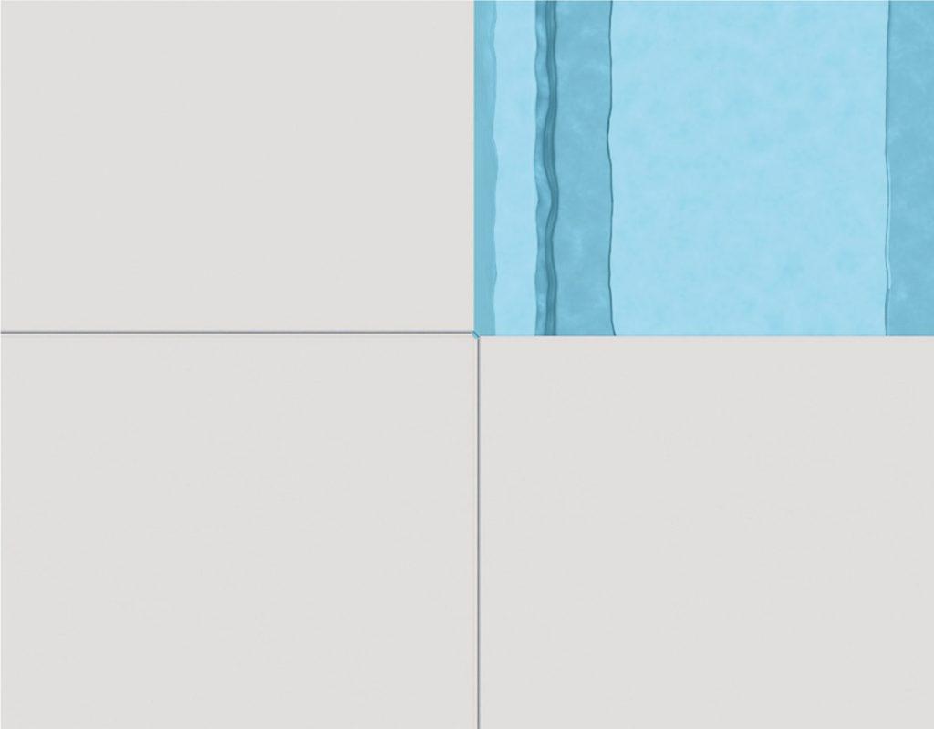 Merkmal Edge - die Beckenform weist so enge Eckradien auf, dass keine speziellen Beckenrandabdecksteine benötigt werden.