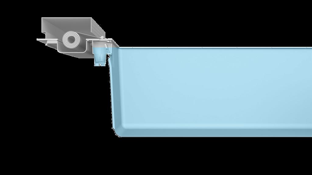 Merkmal Rollcover - das LEIPO RollCover System besteht aus einer am Stein aufliegenden Rollschutzabdeckung und einem edlen Sonnendeck aus Schiffsboden.