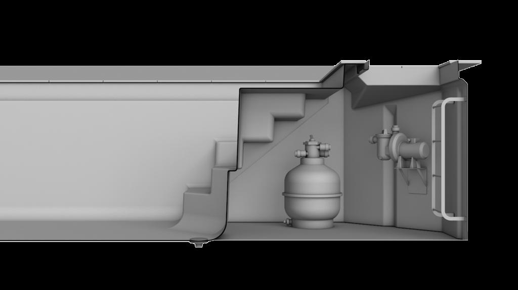 Technikschacht MSC Visualisierung des Schachts