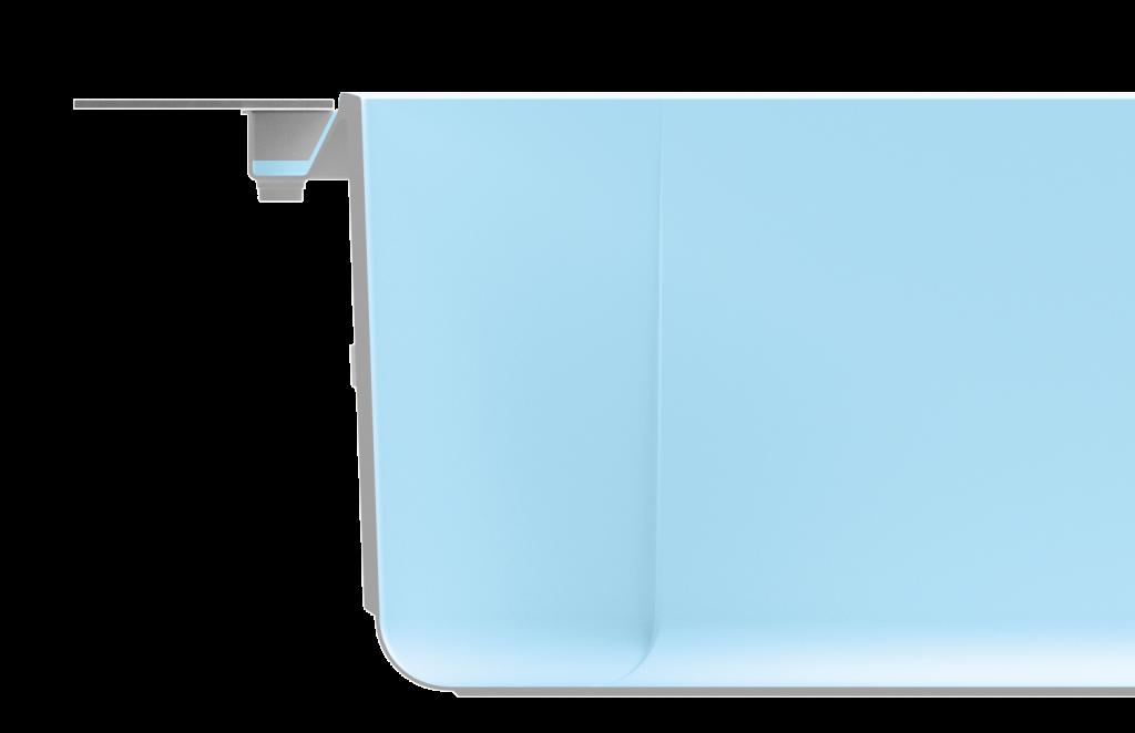Merkmal Flow - Der Infinitypool mit integrierter Ablaufrinne.
