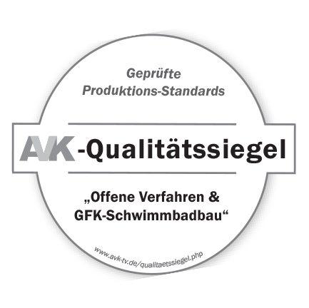 """Leidenfrost-pool GmbH wurde als erster und einziger GFK-Schwimmbadhersteller mit dem AVK-Qualitätssiegel für """"offene Verfahren & GFK-Schwimmbadbau"""" ausgezeichnet"""