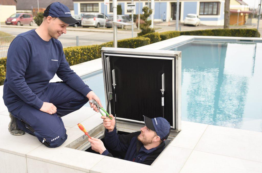 Auf unser Montageteam können Sie sich verlassen. Eine professionelle Inbetriebnahme bei Ihrem Leidenfrost Pool übernehmen wir gerne für Sie.