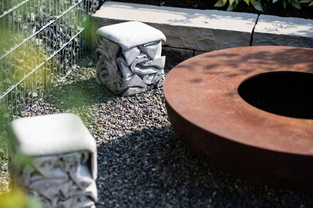 Grillstelle im Garten